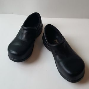 Timberland Pro Series Black Leather Clogs Size 6 M